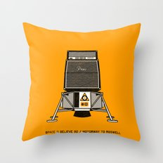 7 inch series: Pixies - Space (I believe in) / Motorway to Roswell Throw Pillow