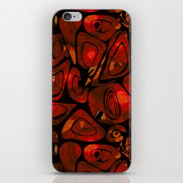 Abstract red black pattern stone texture iPhone Skin