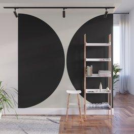 Curvature Minimalism - Black Wall Mural