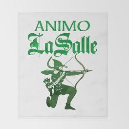 Animo La Salle Art Throw Blanket