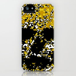 Geometric Mustard Yellow Skull Composed Of Triangles iPhone Case