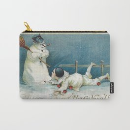 Happy new Year snowman Carry-All Pouch