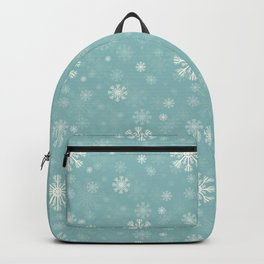 blue pattern with snowflaks Backpack