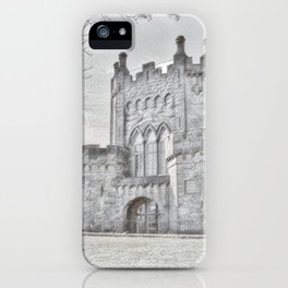 Ireland Kikenny Castle Artistic Illustration Pencil Style iPhone Case