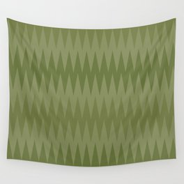 Green Edges Wall Tapestry