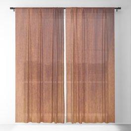 Wood grain Sheer Curtain