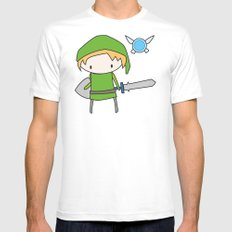 Link - The Legend of Zelda MEDIUM White Mens Fitted Tee