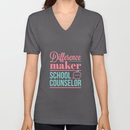 School Counselor Difference Maker Unisex V-Neck