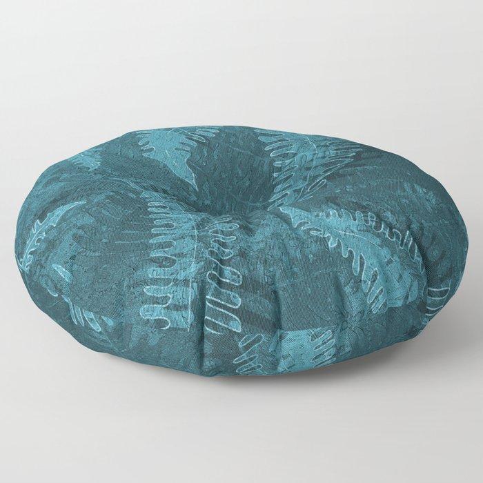 Ferns (light) abstract design Floor Pillow
