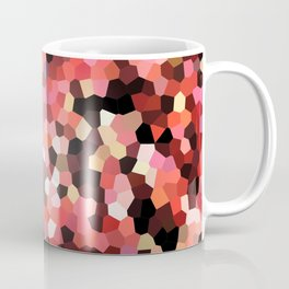 Red Black Mosaik pattern Coffee Mug