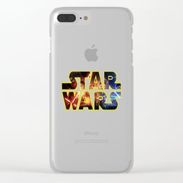 WARS_STARS Clear iPhone Case