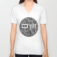 meme V-neck T-shirts featuring Meme + Life by iCentrifuge