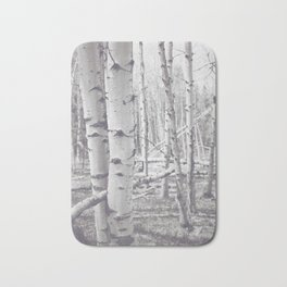 Black and White Aspens Bath Mat