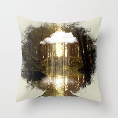 Brain Rain Throw Pillow