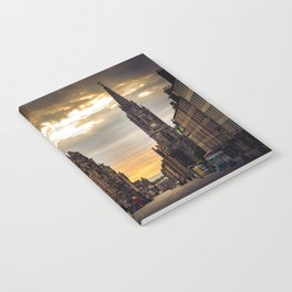 Royal Mile Sunrise in Edinburgh, Scotland Notebook