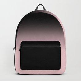 Modern abstract elegant black blush pink gradient pattern Backpack