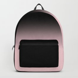 Modern abstract elegant black blush pink gradient pattern Backpack