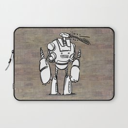 Happy Robot and his Blaster Laptop Sleeve