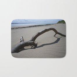 DRIFTWOOD ON BEACH NEAR CROW POINT NORTH DEVON Bath Mat