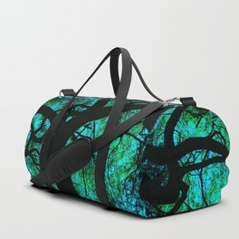 Under The Tree Blue and Green Duffle Bag