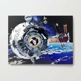 Objects in Space Metal Print