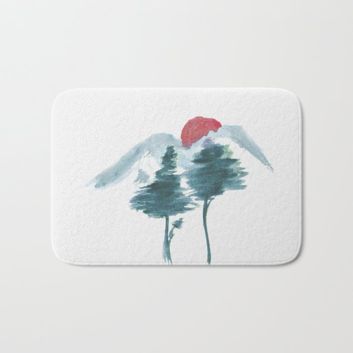 Japanese Alpine Sunset Bath Mat