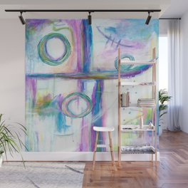 Just the Three of Us, Abstract Art Painting Wall Mural