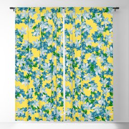 Summer Flowers Yellow Blackout Curtain