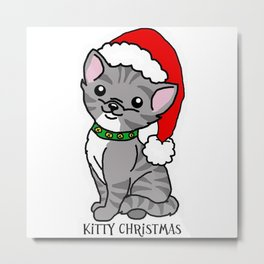 Kitty Christmas Metal Print