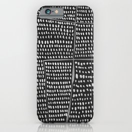 Categorize Print in Charcoal iPhone Case