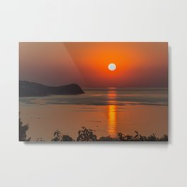 Fishing morning Metal Print