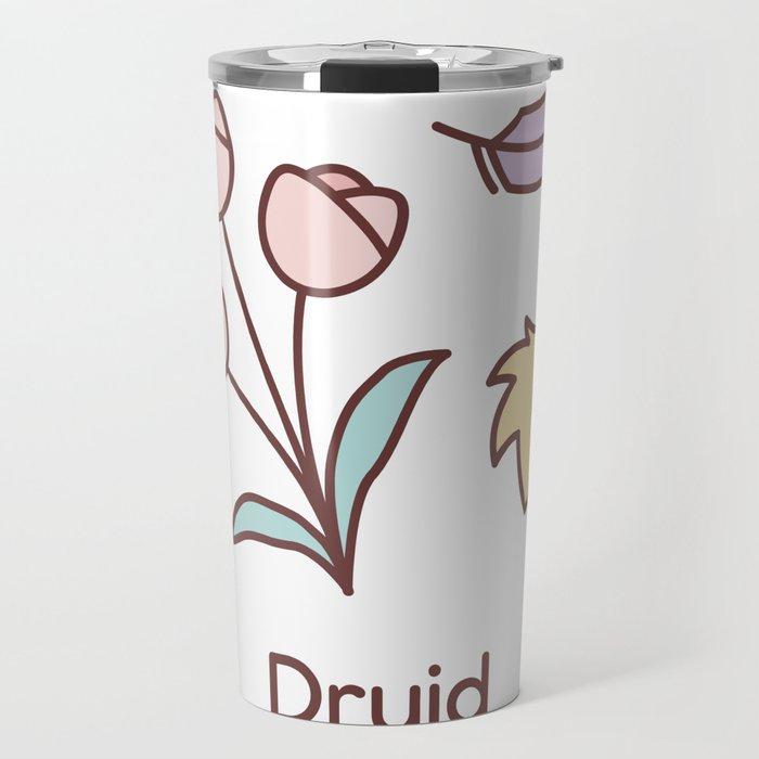 Cute Dungeons and Dragons Druid class Travel Mug