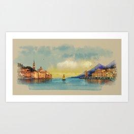 Italian landscape Art Print