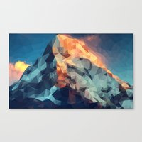 low poly Canvas Prints featuring Mountain low poly by Li9z
