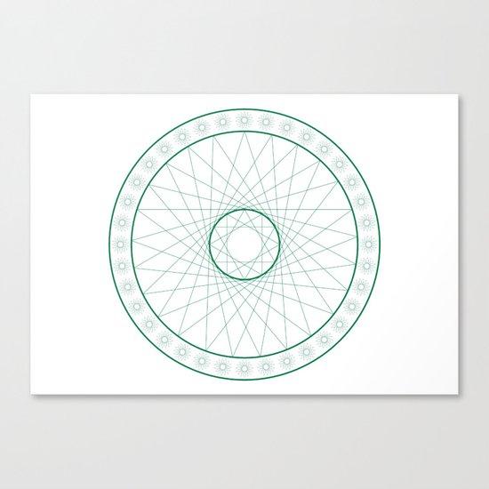 Anime Magic Circle 6 Canvas Print