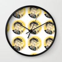 borderlands Wall Clocks featuring Borderlands - Handsome Jack by Tarn