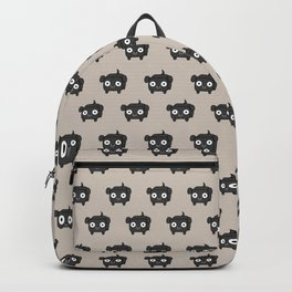 Pitbull Loaf - Black Pit Bull with Floppy Ears Backpack