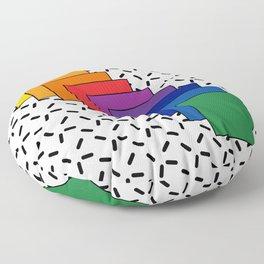 Rainbow Frames Floor Pillow