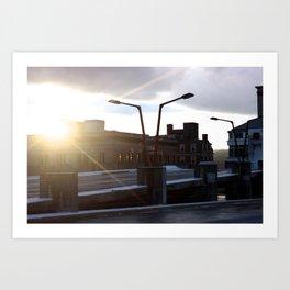 Sunset on the Parking Garage Art Print