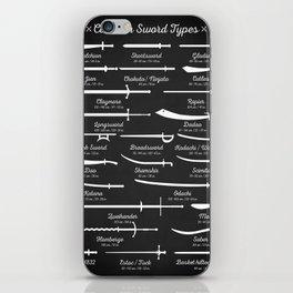 Sword Types iPhone Skin