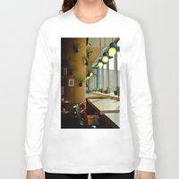 cafe Long Sleeve T-shirts featuring cafe decoration by gzm_guvenc
