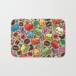 Apple Pattern Bath Mat