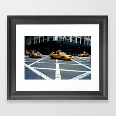 New York City Taxi Framed Art Print