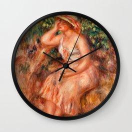 Pierre-Auguste Renoir - Woman Daydreaming (Rêveuse) Wall Clock