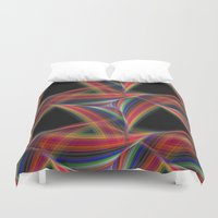 triangles Duvet Covers featuring Triangles by David Zydd