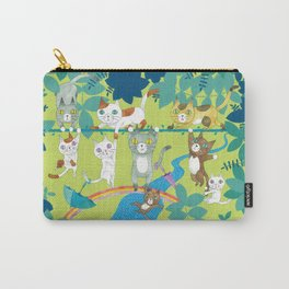 Cats on wire Carry-All Pouch
