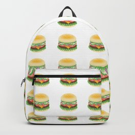 Hamburger pattern Backpack