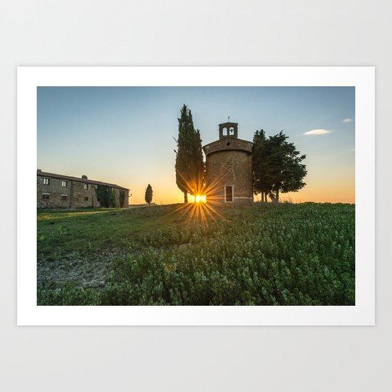 Sunrise Countryside Art Print
