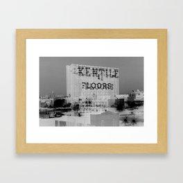 Kentile Floors BKLYN Framed Art Print