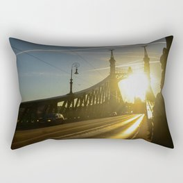 Liberty Bridge Sunset Rectangular Pillow